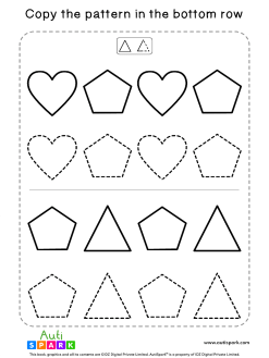 Tracing Shapes Free Worksheet #03 – Match Shape Patterns