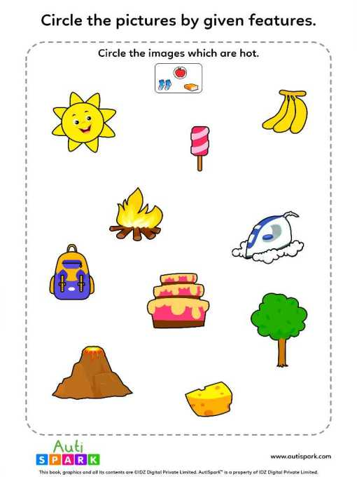 Circle Pictures By Feature – Fun Image Sorting Worksheet :