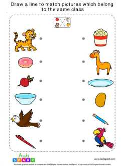 Match Pictures By Class #09 – Fun Matching Worksheet