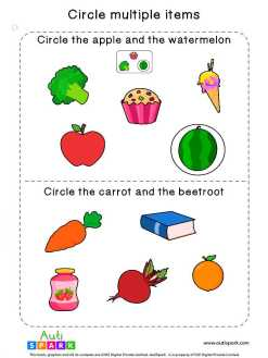 Circle & Identify Objects #01 – Best Sorting Worksheet