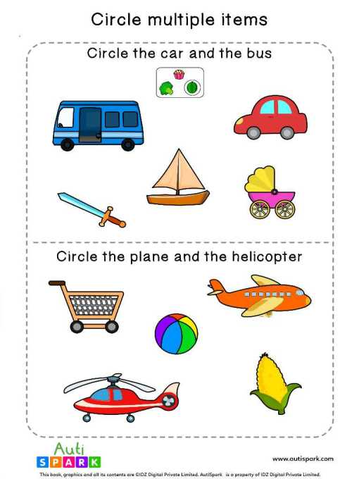Circle & Identify Objects #02 – Best Sorting Worksheet