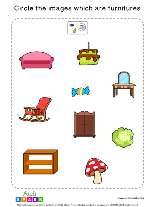 Sort The Furniture Worksheet 5