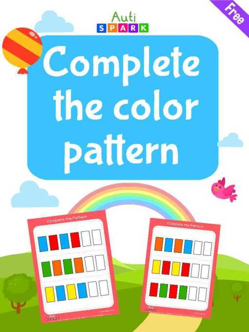 Free Complete The Color Pattern Workbook : 1 – Color The Shapes
