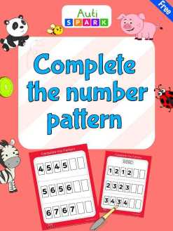 Free Complete The Number Pattern Workbook : 1