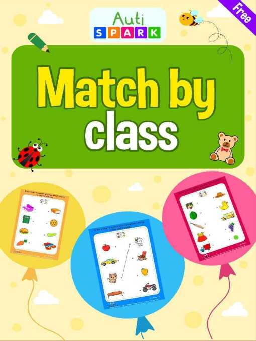 Matching The Pictures By Class – Free Matching Workbook : 1