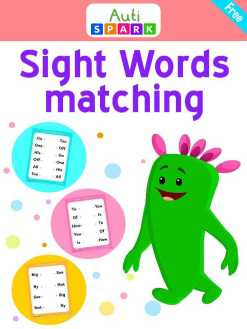 Match The Words – Free Sight Word Matching Workbook : 1