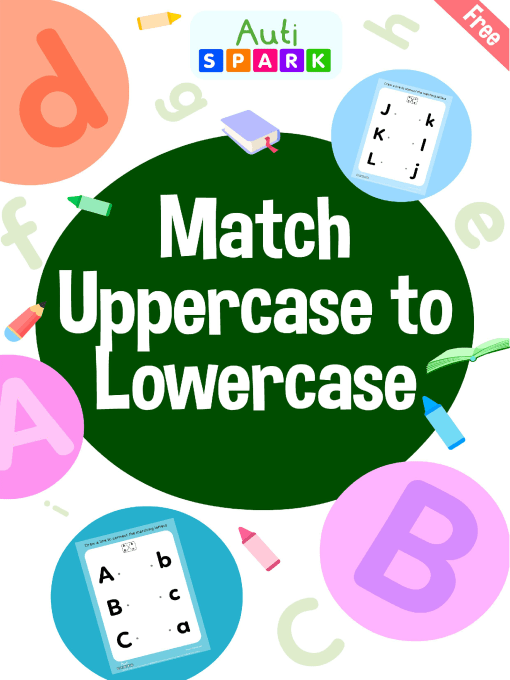 Uppercase to Lowercase Letters – Free Matching Workbook : 1