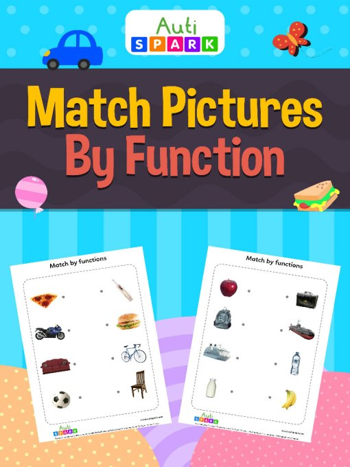 Match Pictures By Function Matching Workbook