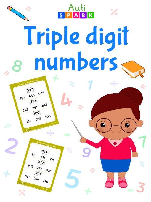 Circle The Same Numbers – Numbers Sorting Workbook