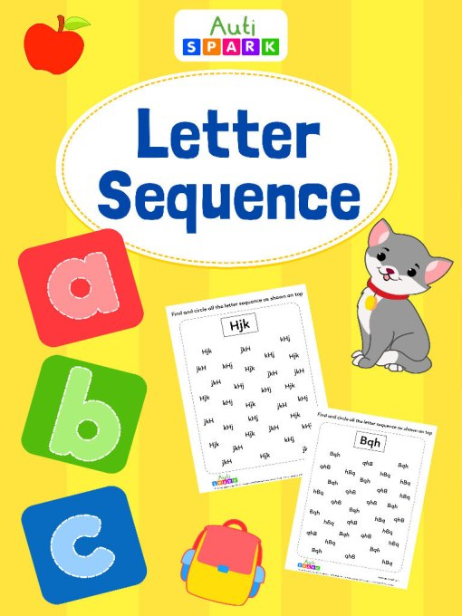 Match The Same Letter Sequence Matching Workbook