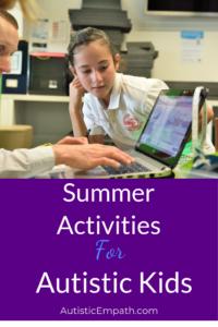 Summer activities for autistic kids