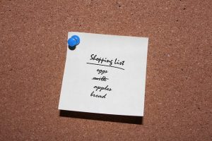 Grocery lists set you up for success