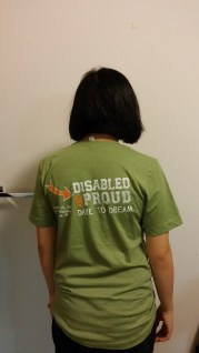 Disabled & Proud Conference 2014 shirt back