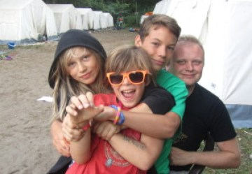 Possibly my favourite Kindercamp photo ever. All three of these guys are awesome, and the boys face sums up how joyful the camp is even on a normal day.