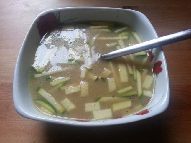 Simple soup with courgette