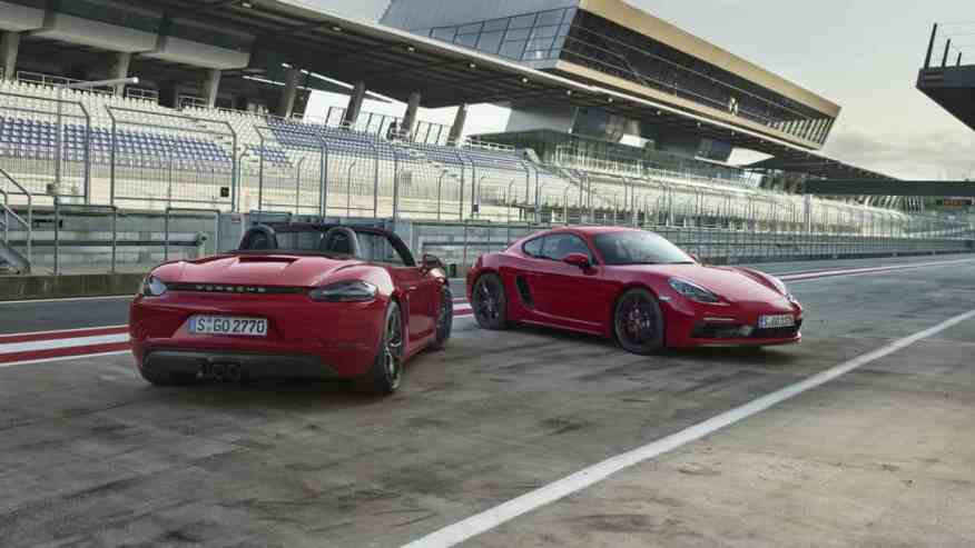 Porsche 718 GTS Boxster and 718 GTS Cayman