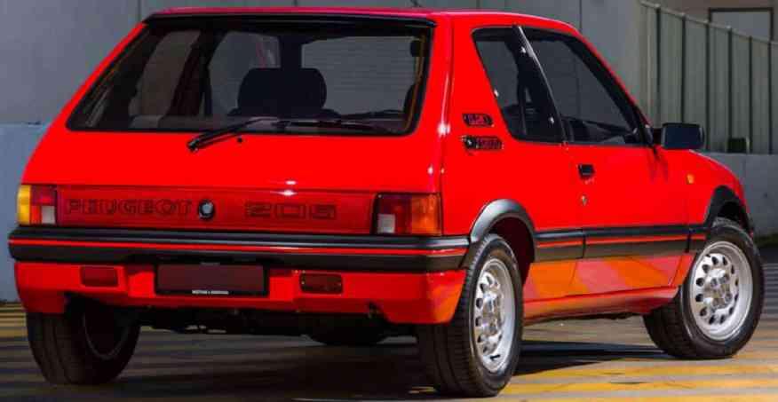 CLASSIC CAR PEUGEOT 205 GTI