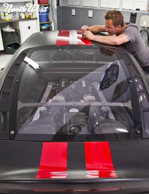 Matte Black Ferrari F430 Scuderia With Multi Layer