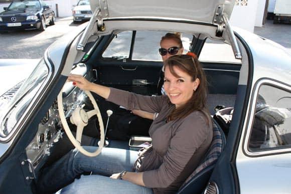 Charly und ich im 300 SL Flügeltürer