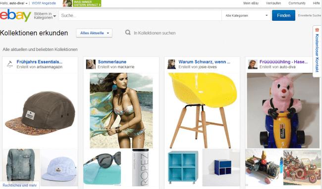 eBay-Kollektionen Startseite