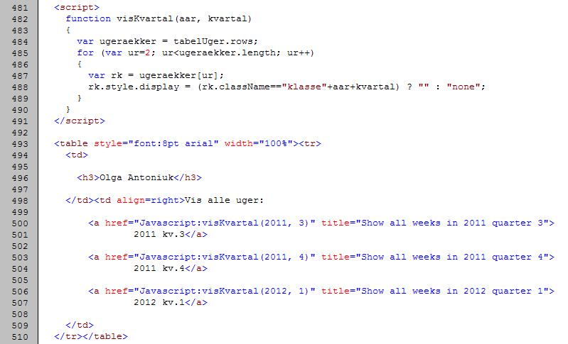 script javascript html