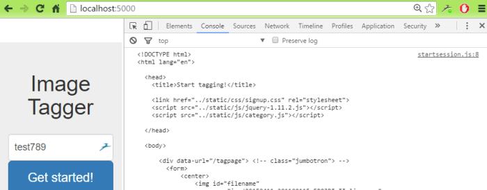 sample hello world html