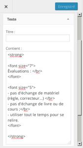 exemple de script html
