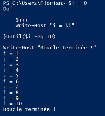 exemple de script powershell