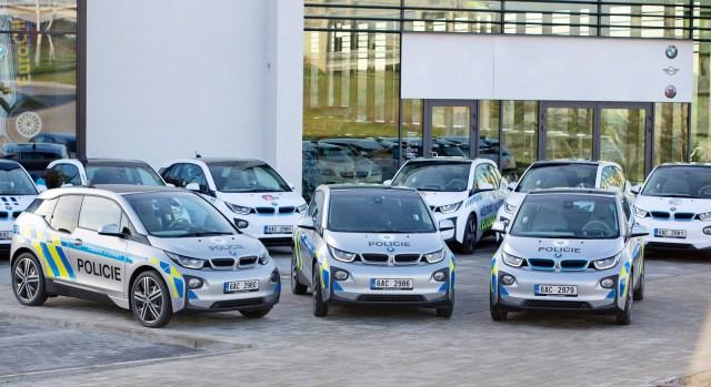 Vozy BMW i3 pro potřeby Police ČR a městské policie.