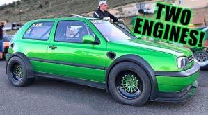 Šílený Volkswagen Golf se dvěma motory je výkonnější než Bugatti Chiron