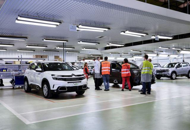 Usine auto Citroen, production de la C5 Aircross