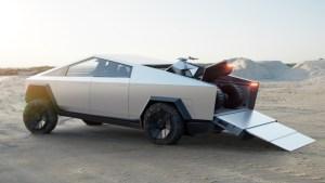 """Tesla představila pick-up. Vypadá jak z """"osmdesátkové"""" budoucnosti a dojede více než 500 mil"""