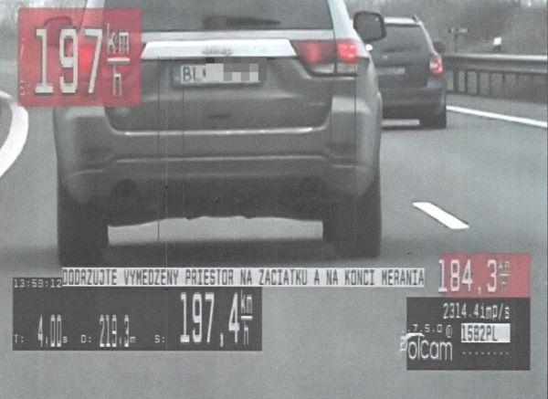 Slovenští policisté velká překročení rychlosti netolerují. Rozdávají pokuty jako na běžícím páse