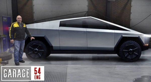 tesla cybertruck garage 54