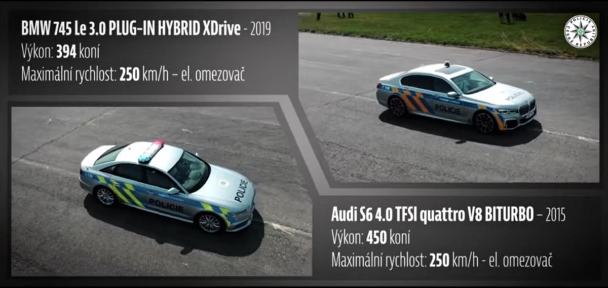Najrýchlejšie mašiny Polície ČR: Audi S6, hybrid BMW rad 7 alebo nový Superb?