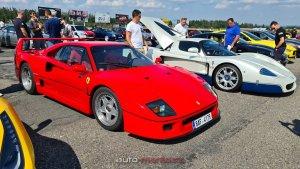 Ferrari F40, Maserati MC12, Lamborghini Aventador SVJ 63 a další sportovní auta se sešla na českém sraze