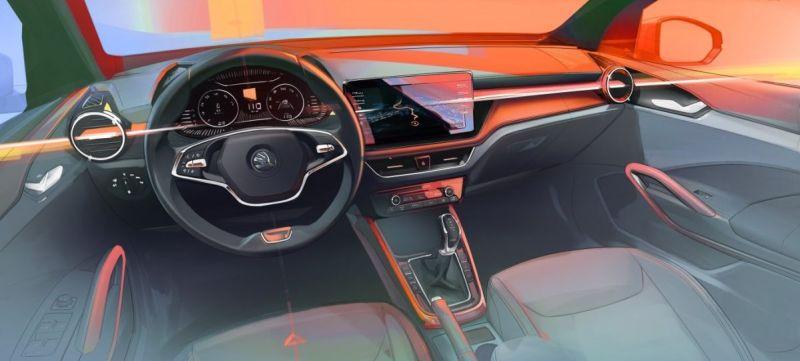 Škoda ukázala první skicu interiéru nové generace modelu Fabia