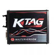 New 4 LED KTAG V7.020 Firmware EU Version Red PCB Latest V2.23 No Token Limitation Multi-Language K-TAG 7.020 Online Version