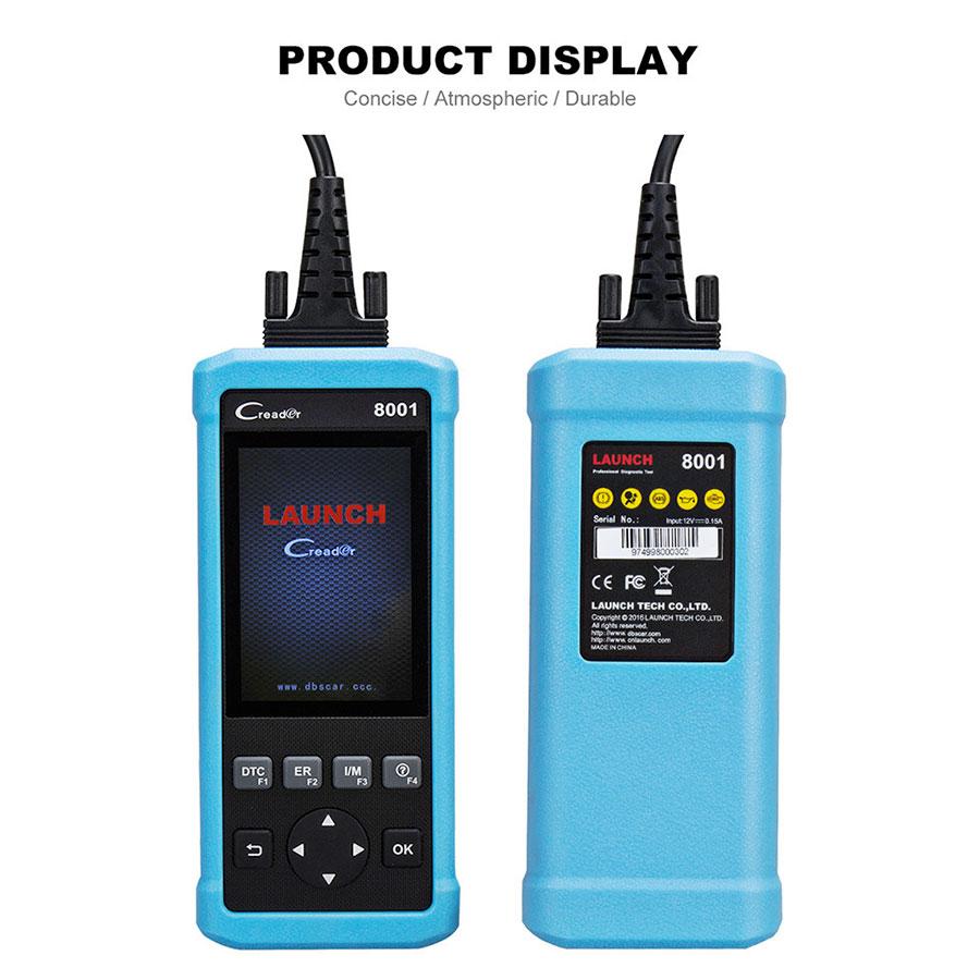 Launch DIY Code Reader CReader 8001 CR8001 Full OBD2 Scanner with Oil Resets Service