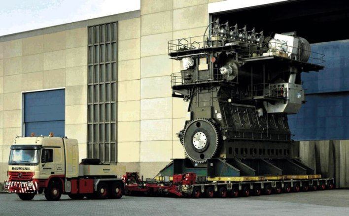 Самый большой корабельный дизельный двигатель Wartsila Sulzer RTA96-C