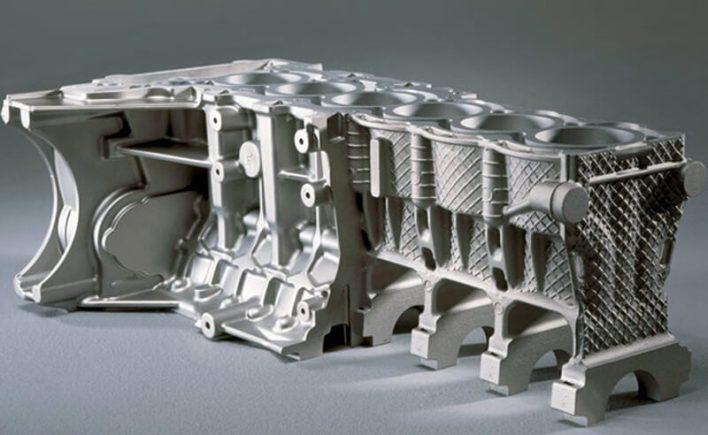 Магниевый блок цилиндров двигателя