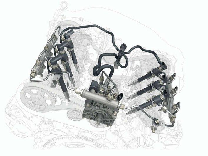 Шестицилиндровый дизельный двигатель