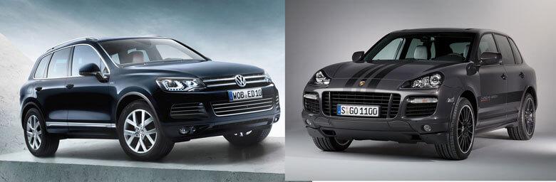 Вот что такое платформа автомобиля. Volkswagen Touareg и Porsche Cayenne имеют одну платформу