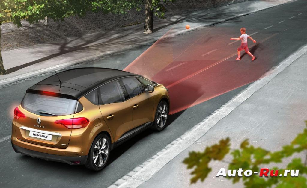 Камеры и радары устанавливаются в передней части авто и сканируют пространство перед ним