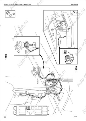 Электросхемы грузовых авто Volvo FM9, FM12, FH12, FH16, NH12, руководство по ремонту элеткрики