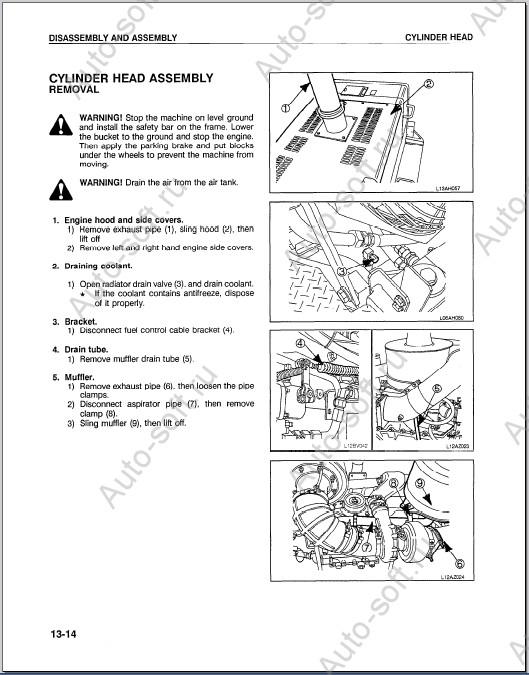 Руководство по ремонту фронтальных погрузчиков Komatsu
