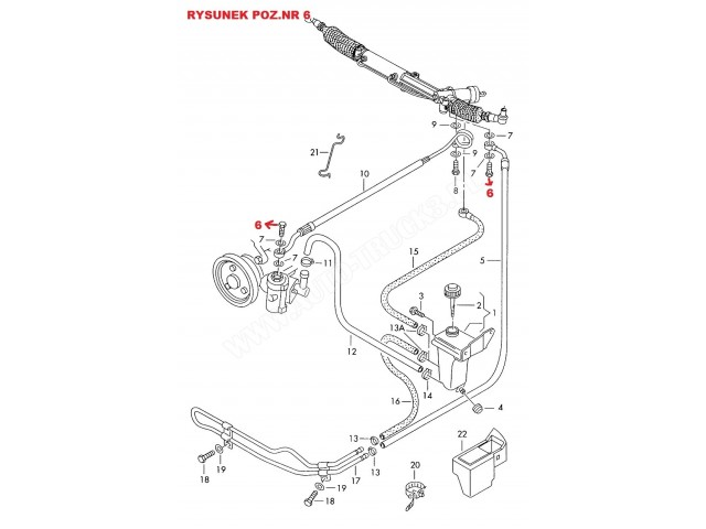Zawór-śruba M14x1.5 mm przewodu ciśnieniowego układu