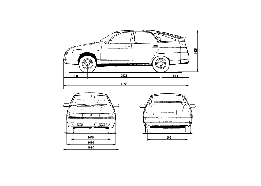 Средние габариты легкового автомобиля: стандарты