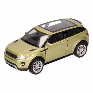 Speelgoed Land/Range Rover Evoque groen Welly autootje 1:36