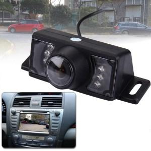 2.4G draadloze GPS auto achteruitrijcamera nachtzicht achteruitrijcamera met 7 LED's, brede kijkhoek: 120° (WX320EBS) (zwart)